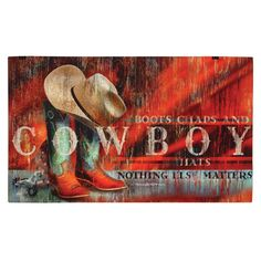 Southwest Rugs: Cowboy Boots Floor Mat Lone Star Western Decor