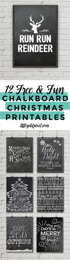 New Chritmas 2018 Trend? 12 Free Christmas Chalkboard Printables Little Gold Pixel Christmas Abbott, Noel Christmas, Christmas Signs, Rustic Christmas, Christmas Projects, All Things Christmas, Winter Christmas, Christmas Decorations, Christmas Quotes