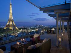 La suite Shangri-La - Terrace - Shangri-La Hotel, Paris
