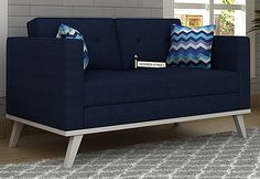 Leroy 2 Seater Fabric Sofa with amazing touch of Indigo Ink makes a stunning sofa unit. Buy fabric two seater sofa online reflecting elegant style. Get enthralling range of 2 seater sofa online comprising of latest designs Buy Fabric, Fabric Sofa, Sofa Set Online, 2 Seater Sofa, Goa, Hyderabad, Sofa Design, Love Seat, Indigo