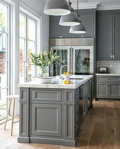 ♔ grey Kitchen
