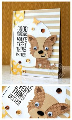 A Cricut Card [Good Friends...]+ Giveaway