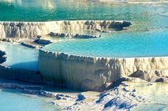 The Pamukkale Rock Pools in Turkey
