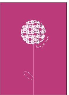 Carte Bonne fête maman fleur rose pour envoyer par La Poste, sur Merci-Facteur !