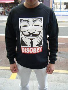 Disobey Sweatshirt Urban Hip Hop Fashion Jumper Obey OFWGKTA Supreme Vendetta YMCMB sweater