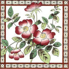 Historic Tiles - Victorian Tiles - Sweet Briar