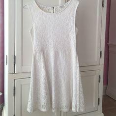 Amber Blue White Lace Dress