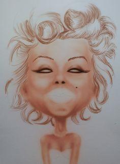 Marilyn Monroe, work in progress...