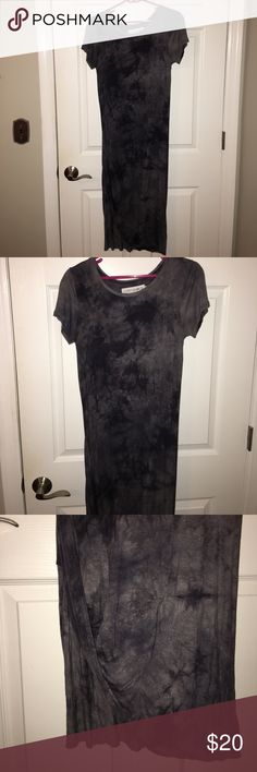 Gypsy warrior dress by pacific sun wear Gypsy warrior by PAC sun dress. Photo of myself in dress shows slit on right leg. More of a deep purple blue color then black even though they listed it as black. Worn once, perfect condition, Pacific Sunwear Dresses Asymmetrical