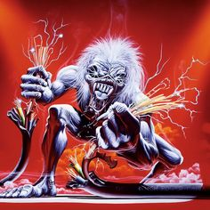 Iron Maiden - A Real Live One. By Derek Riggs.