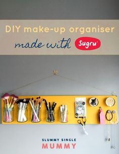A really fun Sugru craft idea! Use Sugru, the flexible, mouldable glue, to create a wall wanted make-up organiser board. Sugru is brilliant for crafts and for fixing things