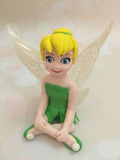 Tinkerbell Fairy Fondant Cake Topper Edible by EliteCakeToppers