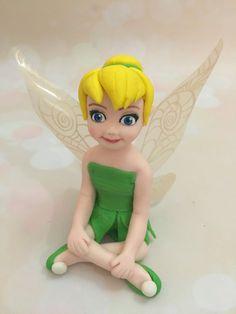 Tinkerbell Fairy Fondant Cake Topper Edible by EliteCakeToppers
