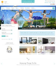 This hotel Joomla theme features an integrated booking system, a responsive layout, parallax effects, 9 custom pages, Bootstrap integration, a full-width slideshow module, 6 template styles, and more.