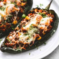 Southwest Stuffed Poblano Peppers Creme De La Crumb - Easy Baked Southwest Stuffed Poblano Peppers With Ground Beef And Rice Are Packed With Bold Savory Flavors And Topped With Cheese To Make The Best Healthy Stuffed Peppers Youll Ever Taste I Poblano Recipes, Beef Recipes, Mexican Food Recipes, Healthy Dinner Recipes, Cooking Recipes, Poblano Rice Recipe, Yummy Recipes, Recipies, Mexican Stuffed Peppers