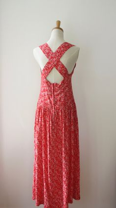 Poppy Red white drop waist dress. Red cross by ForestHillTradingCo
