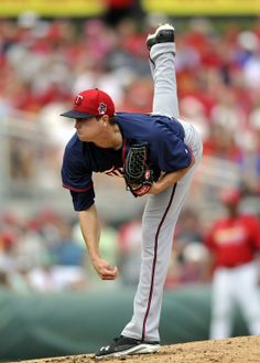Mar 19, 2014; Jupiter, FL, USA; Minnesota Twins starting pitcher Kyle Gibson (44) throws during a game against the St. Louis Cardinals at Roger Dean Stadium. Mandatory Credit: Steve Mitchell-USA TODAY Sports