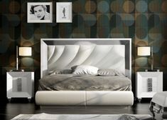 Lacquered and upholstered bedroom. Bedroom Closet Design, Bedroom Furniture Design, Bed Furniture, Home Decor Bedroom, Bed Headboard Design, Bed Frame Design, Headboards For Beds, Modern Luxury Bedroom, Luxurious Bedrooms