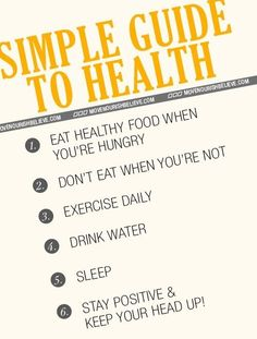 Being healthy doesn't have to be complicated! Keep it simple. #wellness