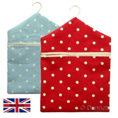 dotty Spot Fabric Clothes Peg Bag Holder Hanger Laundry Pegbag