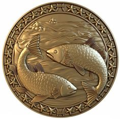 Discover thousands of images about fish zodiac model obj stl 1 Peacock Wall Art, 3d Wall Art, Mural Art, Emboss Painting, Aluminum Foil Art, 3d Printing Diy, Metal Embossing, Coin Art, Crafts With Pictures