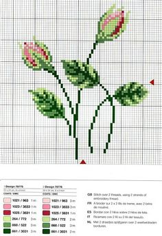 you'd have to enlarge the view on your computer (ctrl +) Cross Stitch Needles, Cross Stitch Rose, Cross Stitch Flowers, Cross Stitch Charts, Cross Stitch Designs, Cross Stitch Patterns, Cross Stitching, Cross Stitch Embroidery, Embroidery Patterns