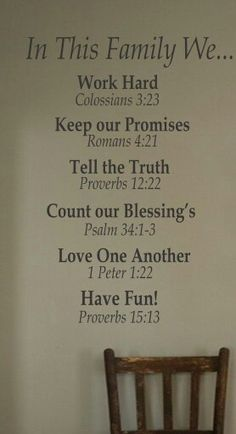 Bible verses on the wall :)