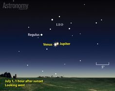 """Venus and Jupiter  Look at the picture, this isn't a random, everyday conjunction, it is in Leo.  This picture screams """"King, King Messiah"""" (astronomically at least.) read more..."""