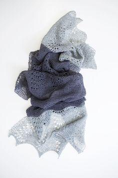 Ravelry: Starlight shawl with Ito Urugami - knitting pattern by Janina Kallio.