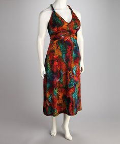 Another great find on #zulily! Tropical Racerback Maxi Dress - Plus #zulilyfinds