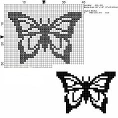 Punto de cruz y otras manualidades: Mariposas a punto de cruz