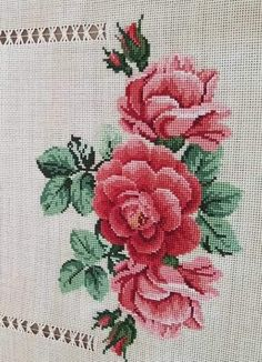 Rose Bouquet, Cross Stitch, Awesome, Instagram, Herb, Embroidered Towels, Cross Stitch Embroidery, Craft, Cross Stitch Designs