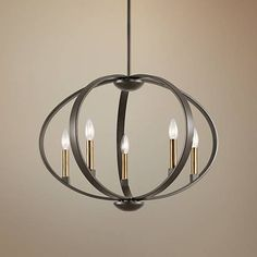 "Kichler Elata 27""W Olde Bronze 5-Light Orbital Chandelier - #13A82 