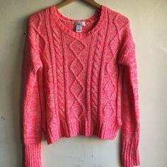 Hot Pink Sweater Bright hot pink sweater in perfect condition. K51 SO Sweaters Crew & Scoop Necks