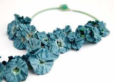 Ana Hagopian  Necklace: Amaryllis  Blue paper