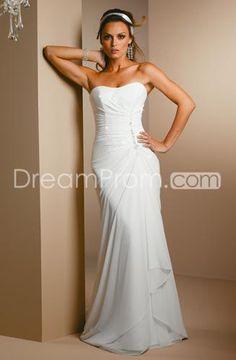 Amazing Sheath/Column Sweetheart Floor-length  Chapel Wedding Dress for Brides (WDA1415)