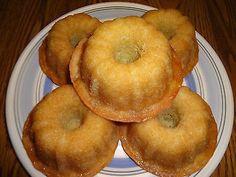Super Moist Homemade Lemon Honey Mini Bundt Cakes (1 Dozen)