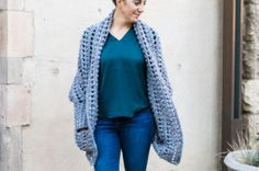 The Dwell Sweater by Make and Do Crew is part of a collection of the most popular free crochet patterns from Crochet Blogs.