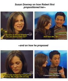 Robert and Susan Downey: proposition to proposal. I think I'm going to die of cuteness overload, lol. :) (How To Get Him To Propose Guys) Funny Marvel Memes, Marvel Jokes, Dc Memes, Marvel Avengers, Avengers Memes, Avengers Cast, Susan Downey, Hulk, Marvel Actors