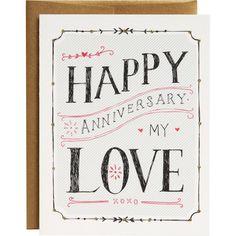 My Love Anniversary Card