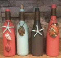 Rose Gold and white, Glitter, Wedding, Love, Wine Bottle Centerpieces Liquor Bottle Crafts, Wine Bottle Art, Painted Wine Bottles, Diy Bottle, Bottle Lamps, Decorated Bottles, Liquor Bottles, Glass Bottles, Wine Glass