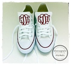 Monogrammed Converse...Make a fashion statement