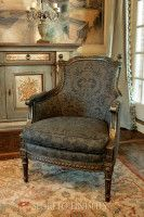 Fortuny fabric chair