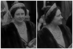 From Her Majesty's Jewel Vault; Queen Elizabeth in 1950, wearing all five strands of the Greville Festoon Necklace and the Greville Tiara for a Dutch state visit