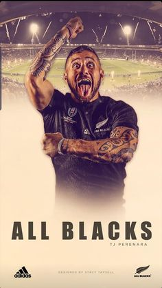 All Blacks Rugby Team, Nz All Blacks, Rugby League, Rugby Players, Rugby Tattoos, Tj Perenara, Rugby Wallpaper, Rugby Poster, New Zealand Tattoo