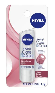 Nivea's version of chapstick with a touch of color.