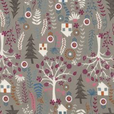 Forest Frolic, Taupe Forest (Bloomerie Fabrics)