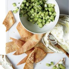 Whipped Feta with Cucumbers // More Mediterranean-Inspired Recipes: www.foodandwine.com/slideshows/mediterranean #foodandwine