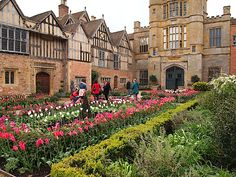COUGHTON COURT-- Located in Warwickshire and owned by the Thockmorton family from 1409 to 1949, this is the Tudor-styled inner courtyard.