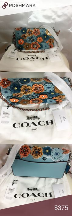 Coach glitter tea rose crossbody bag Coach 1941 Dinky with glitter tea rose. Inside open and coin purse pockets. Turn lock closure. Leather lining. Outside slip pocket. Detachable Strap. Can be worn on the shoulder or crossbody. This color is not on the coach website. Coach Bags Crossbody Bags